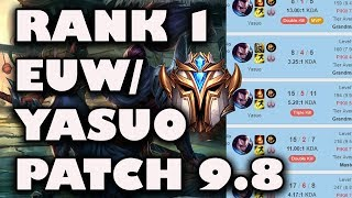 Rank 1 EUW & Yasuo 68% Winrate Misfits Lider Patch 9.8 Game Breakdown