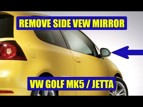 TUTORIAL: How to remove / replace side view mirror VW Golf Mk5, Jetta in 11 steps