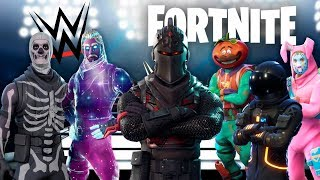 FORTNITE ROYAL RUMBLE !! PERSONAJES DE FORTNITE EN LA WWE ! - ElChurches