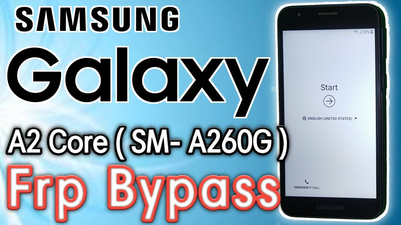 Samsung A2 core Frp Bypass | Samsung A260G Google Account Bypass | Without PC | Latest Update 2020