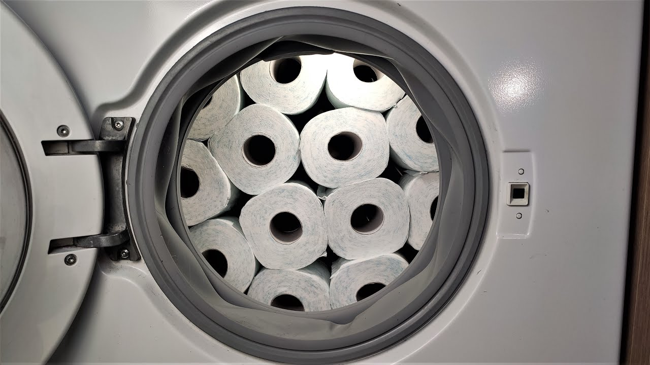 Experiment - Toilet Paper on Service Mode  - in a Washing Machine