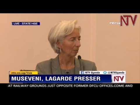 IMF Managing Director Christine Lagarde press conference in Kampala 27 January 2017
