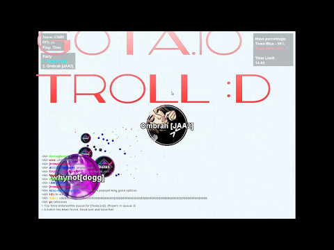 Gota.io | BEST TROLL EVER IN THE HISTORY OF GOTA.IO!? 😱 | Diksy&Ombrah