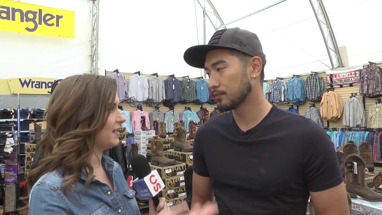 Godfrey Gao Makes His Stampede Debut Youtube