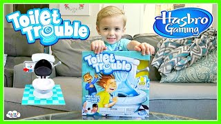TOILET TROUBLE Hilarious Challenge Toy Game