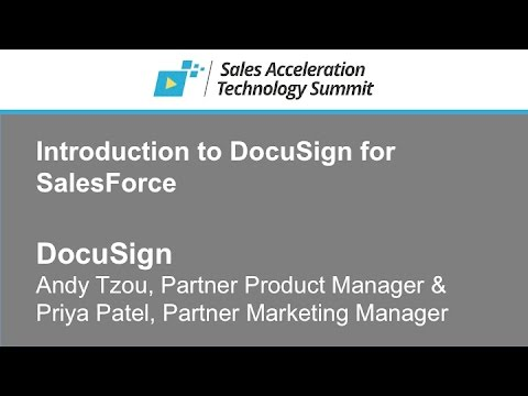 DocuSign - Introduction to DocuSign for SalesForce