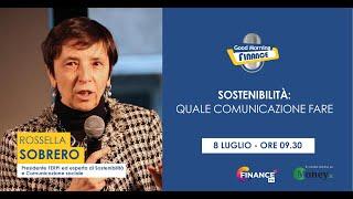 Rossella Sobrero, Sostenibilità e comunicazione