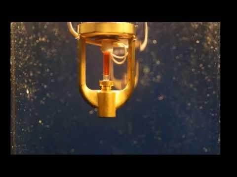 Срабатывание спринклера с принудительным пуском