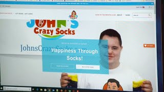 Father/son duo spreading happiness one pair of crazy socks at a time