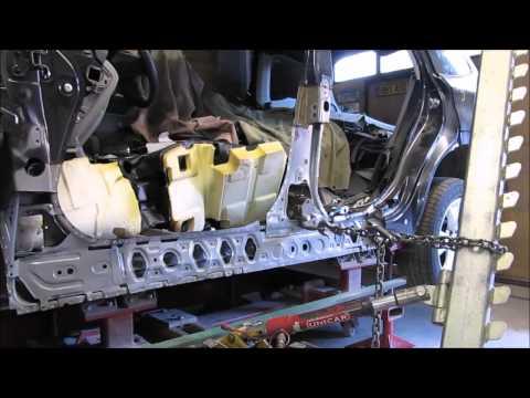 Subaru Forester. The side body repair of the car. Ремонт бока кузова машины.