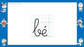 Doremon tập viết chữ cái tiếng việt lớp 1| Bé học chữ
