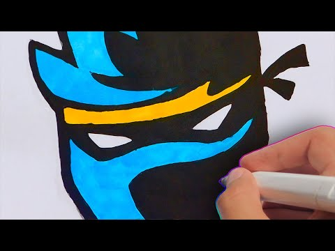 HOW TO DRAW NINJA'S NEW YOUTUBE/TWITCH LOGO | DRAWING NINJA'S FORTNITE LOGO