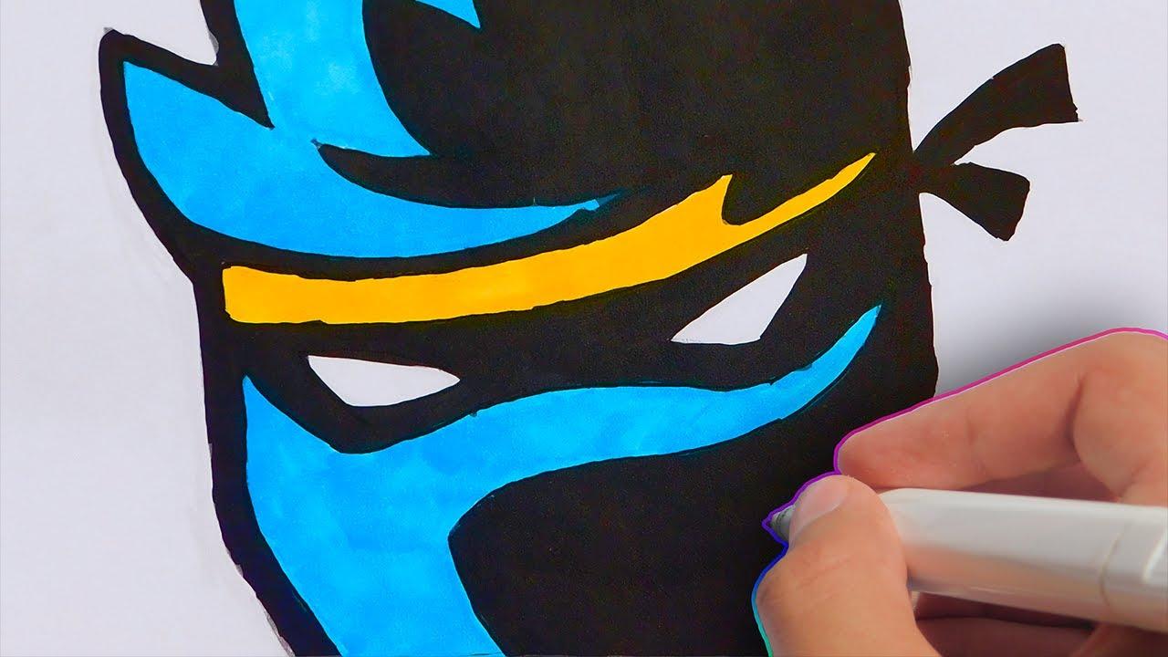 How To Draw Ninja S New Youtube Twitch Logo Drawing