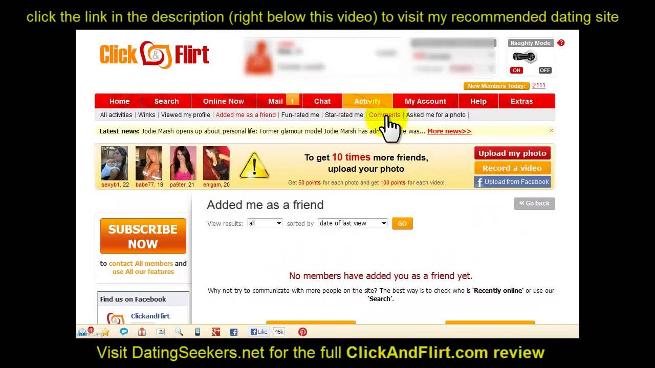 Clickandflirt com online flirting and international dating