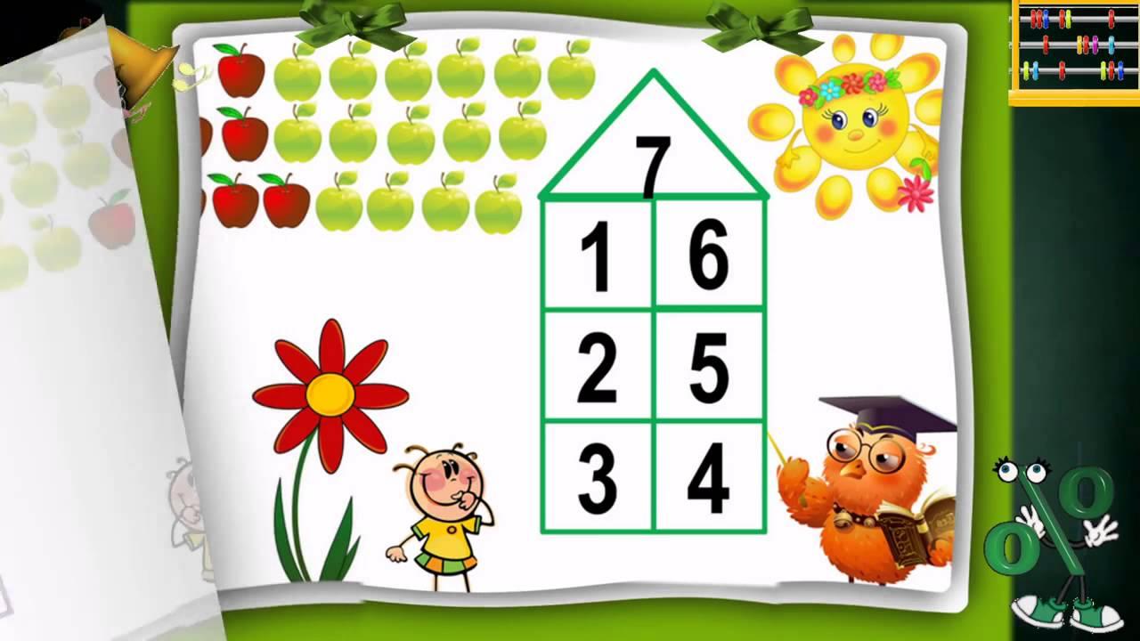 качестве математические картинки в составе чисел даже