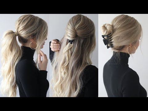 HOW TO: EASY HAIRSTYLES w/claw clips | Claw clip hairstyles thumbnail