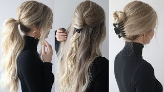HOW TO: EASY HAIRSTYLES w/claw clips | Claw clip hairstyles