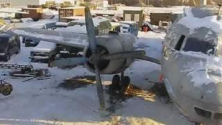 Il-14T/The first launch of the right engine/Первый пуск правого двигателя