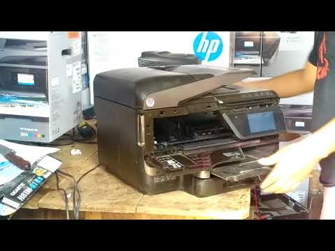 Desarmando una hp 8600 plus para mantenimiento general