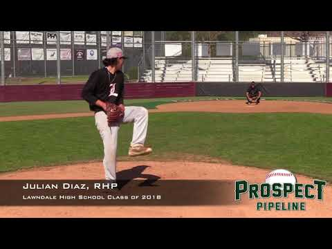 Julian Diaz Prospect Video, RHP, Lawndale High School Class of 2018