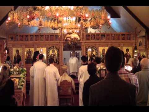 Divine Liturgy   St Nektarios Greek Orthodox Cathedral Toronto Canada   Oct 07 2012   Pt 1