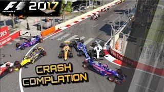 F1 2017 Game - Crash Compilation [1080p60FPS]