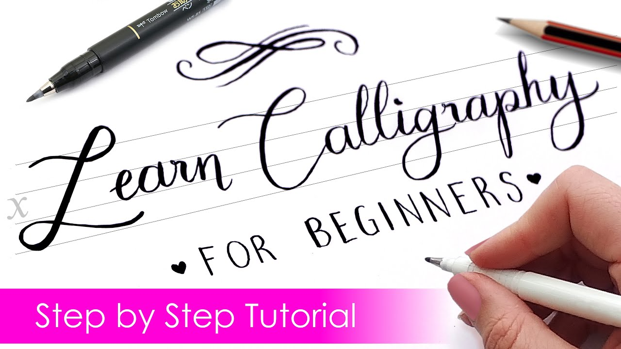 How to write CALLIGRAPHY with ANY PEN ✍️  Step by Step Tutorial