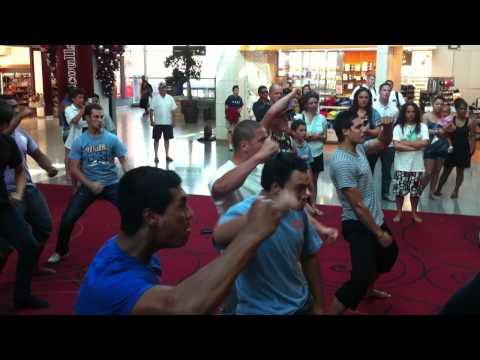All Blacks Maori Haka Dance in New Zealand (Auckland Airport)