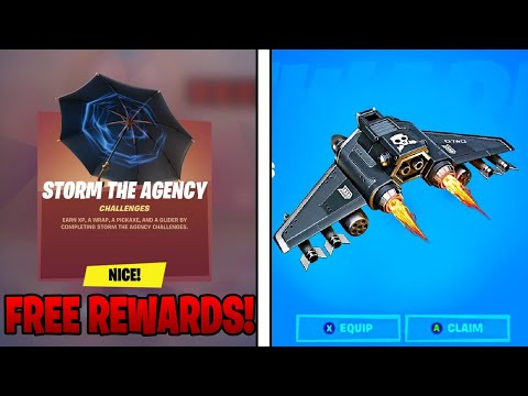 How To COMPLETE STORM THE AGENCY CHALLENGES Guide In Fortnite Battle Royale! (Free Items!)