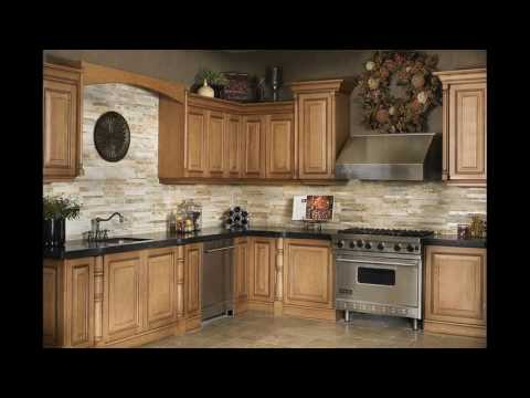 Stone backsplash designs kitchens
