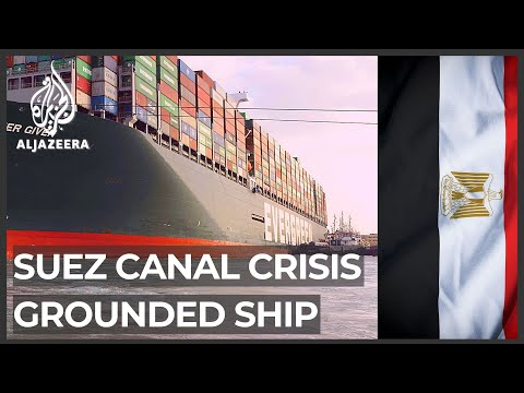 Tugs, dredgers continue work to refloat ship blocking Suez Canal