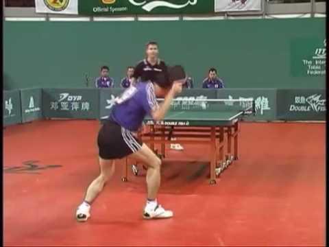 Koji Matsushita vs Timo Boll,  2000