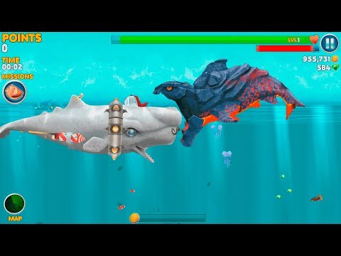 Hungry Shark Evolution Pyro Shark Android Gameplay #34