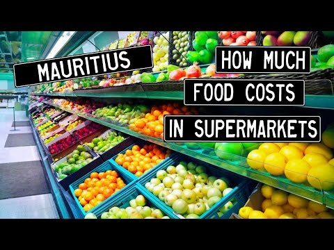 2017 Mauritius  - How Expensive is Food in a Supermarket?