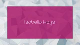 Gambar cover Isabella Hays - appearance