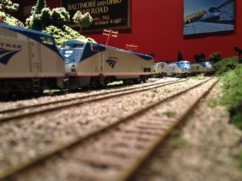 Running Some of My HO Scale Amtrak Trains on My New Layout