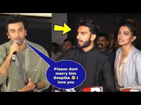 Omg ! Ranbir Kapoor Cried Badly On Watching Deepika Padukone And Ranveer Singh Wedding Card ??