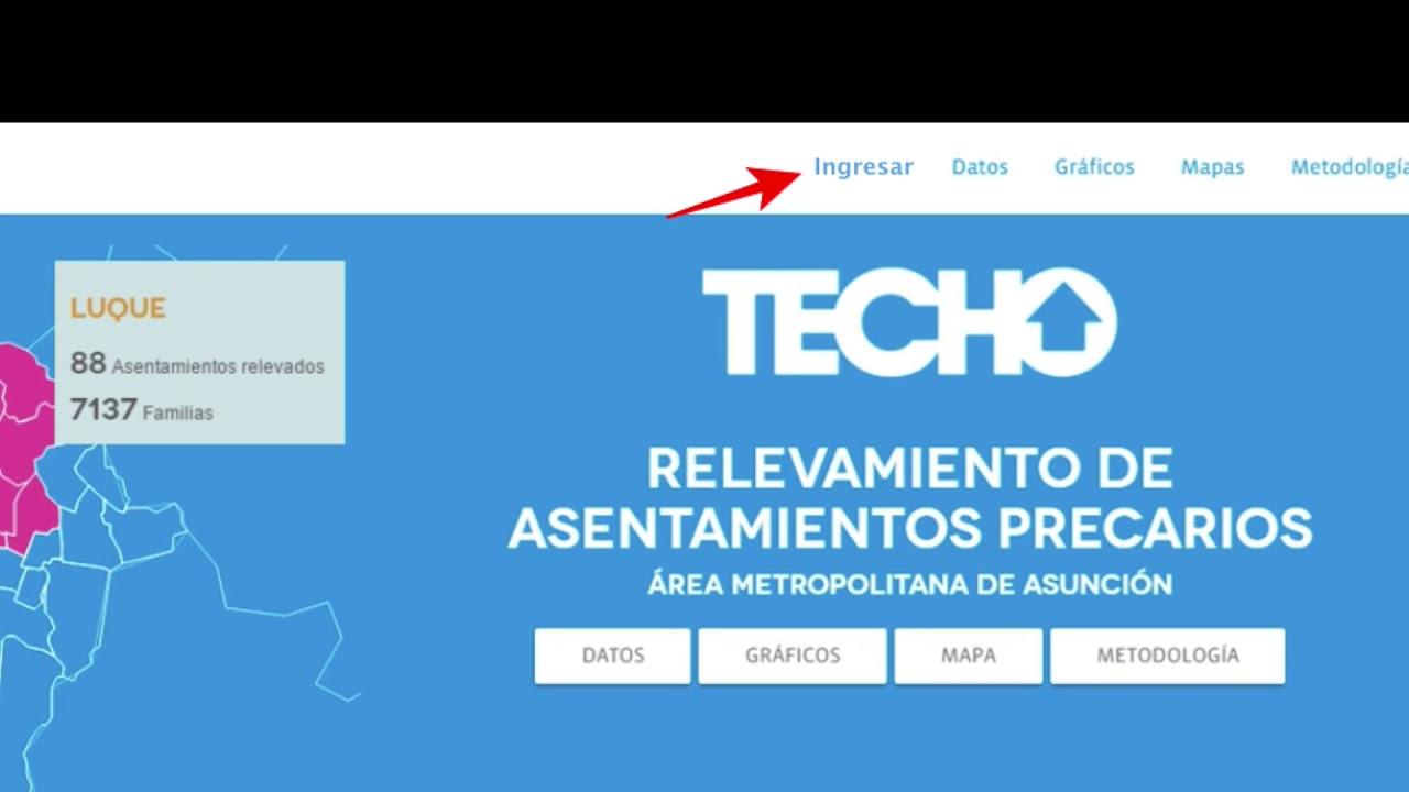 Mockup: Plataforma digital de datos abiertos - RAP Paraguay 2019