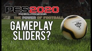 Should Konami Add Gameplay Sliders to PES 2020?
