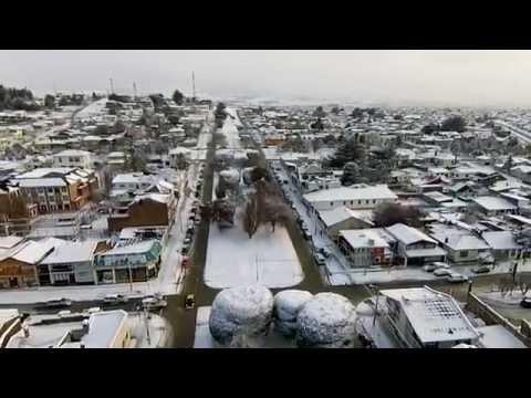 Así luce Punta Arenas nevada desde un dron