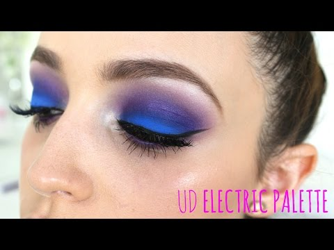Electric Blue/Purple Eyes Makeup Tutorial
