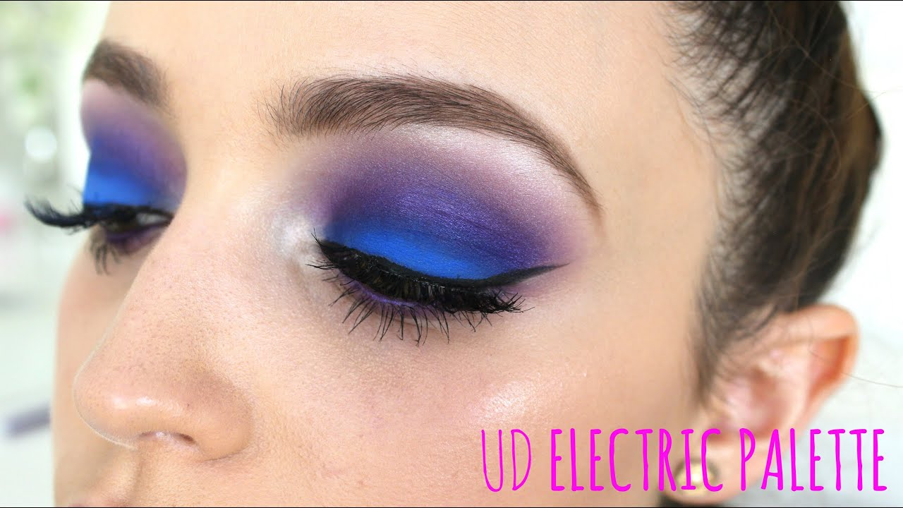 electric blue/ purple eyes- makeup tutorial