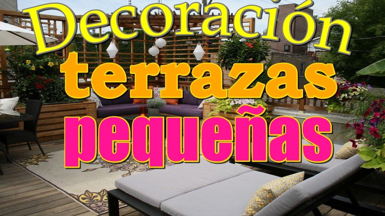 Decoracion de terrazas peque as como decorar terraza con - Como reformar una terraza ...