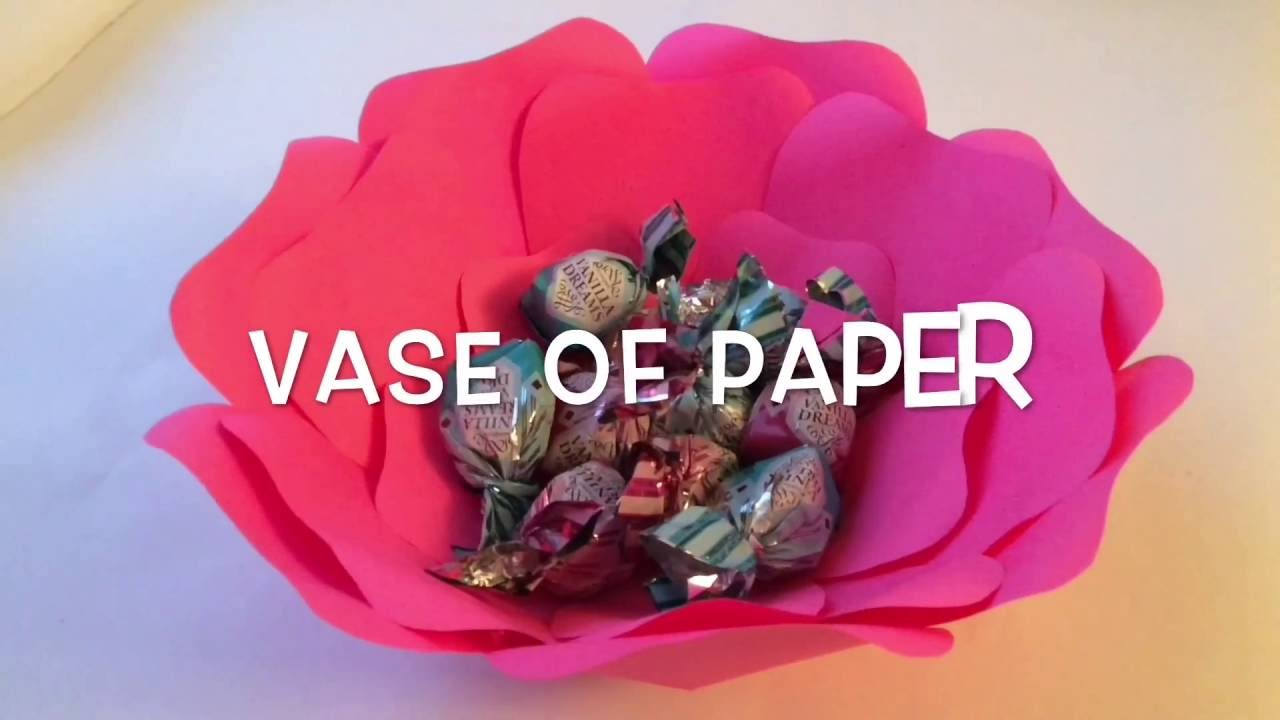 Paper Vase Big Paper Flowers Youtube