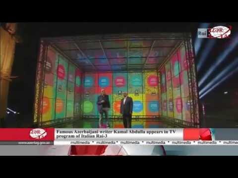 Famous Azerbaijani Writer Kamal Abdulla Appears In TV Program Of Italian Rai-3