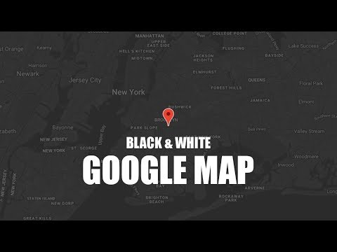 Black And White Google Map Using Html 5 And Snazzy Map Plugin