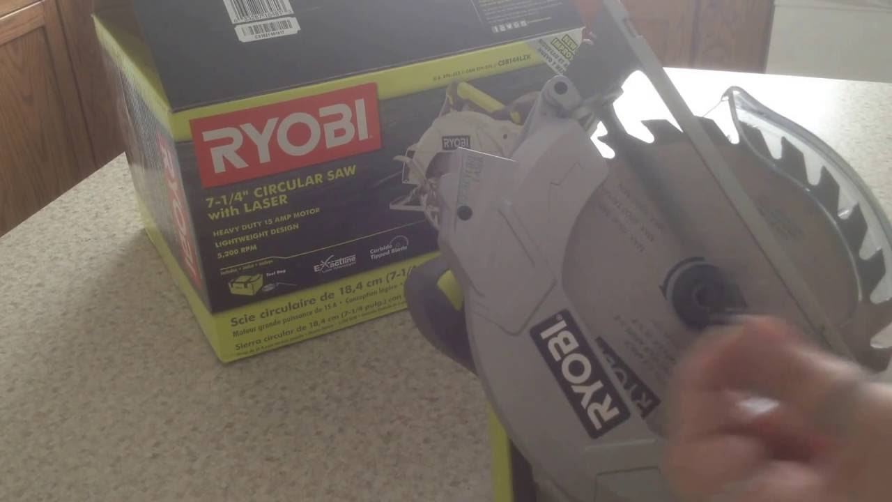 Installing a blade on a ryobi 7 14 15 amp circular saw youtube installing a blade on a ryobi 7 14 15 amp circular saw greentooth Image collections
