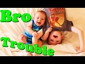 Brother Trouble! Funny Kids Playing Pranks on Mom's Bed Jumping & Flips on Bed by DisneyCarToys