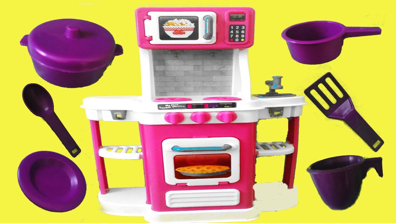 Marvelous Big Huge Jumbo Toy U0027u0027Kitchen Playsetu0027u0027Microwave Oven Cooking Baking Playset Toy  Kitchen Utensils
