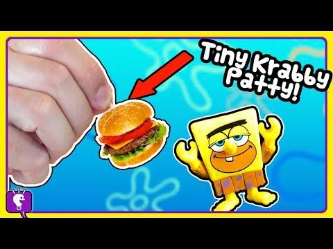 tiny BURGER vs GIANT! Spongebob and Patrick Order KrabbyFries from HobbyFry by HobbyKidsTV
